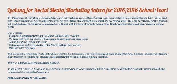 intern posting for FB