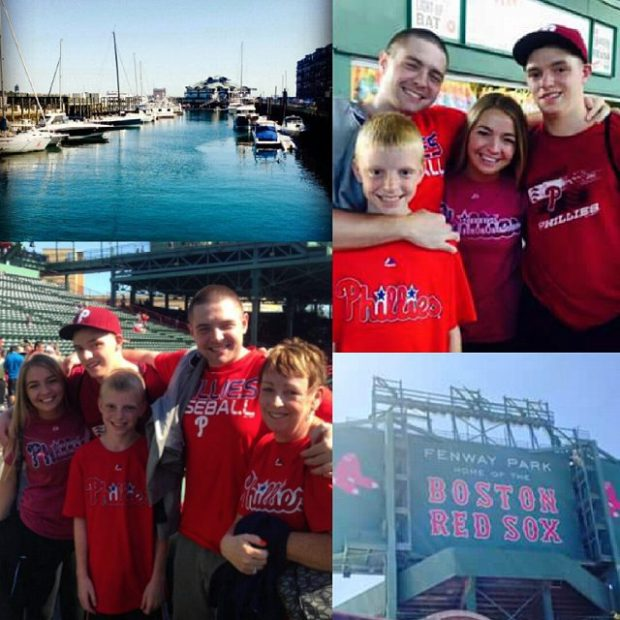 My family at Fenway - Go Phils!